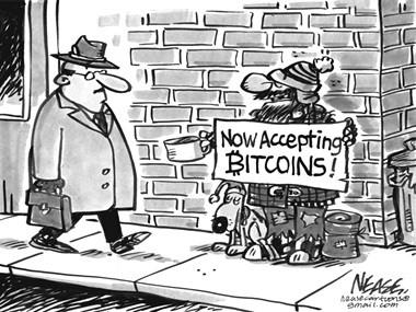 """""""Ahora aceptamos bitcoins"""""""