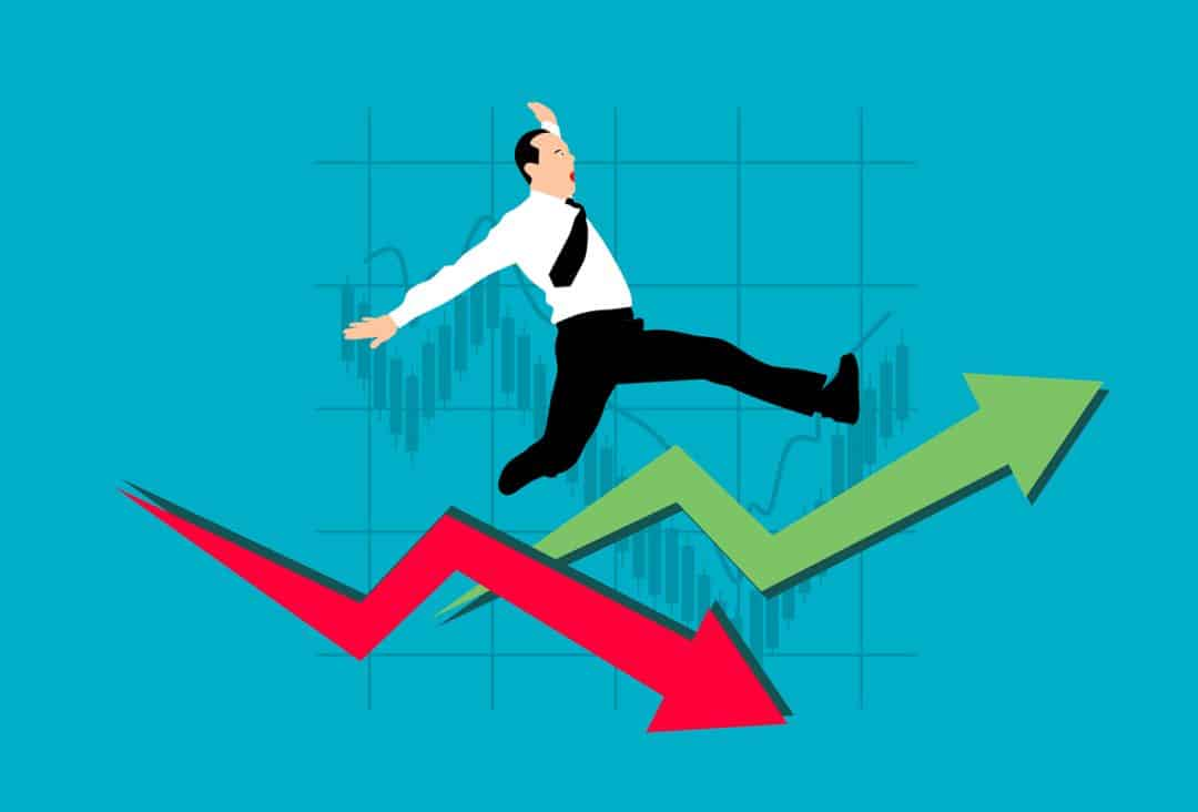chart, arrow, businessman