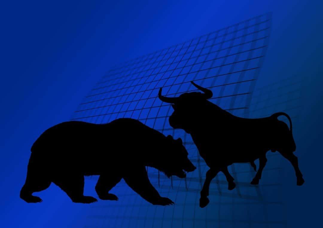 stock exchange, bull, bear, mercado eficiente
